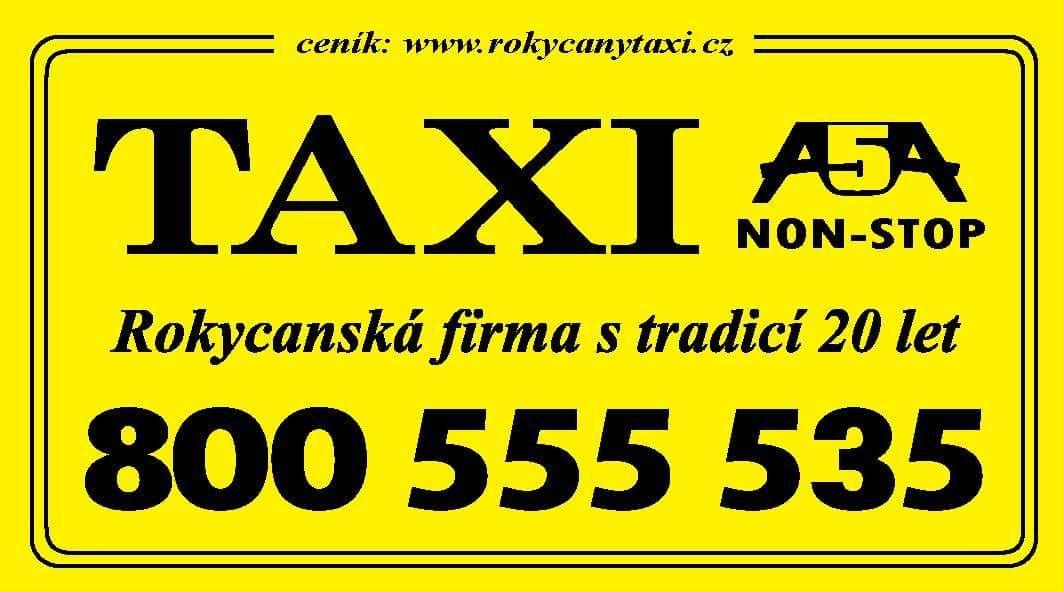TAXI Rokycany - ceník jízdného taxislužby