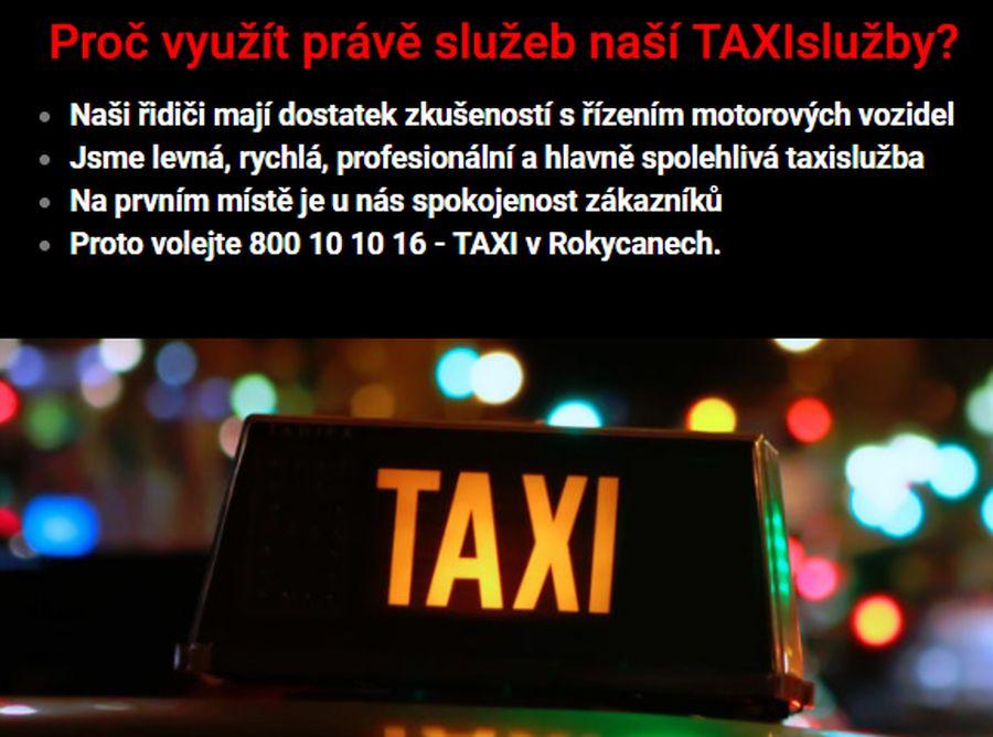 TAXI Rokycany služby informace